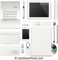 Business corporate ID template, vector eps10 image.