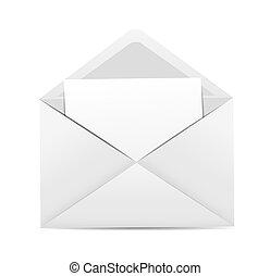 White Envelope Icon Vector Illustration
