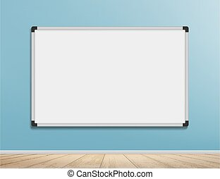 White marker board for business and school.