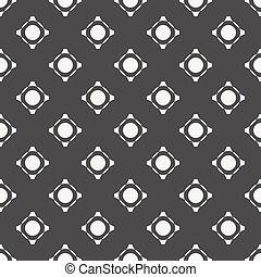 White pattern on dark seamless background. Vector design.