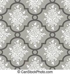 White roses seamless pattern