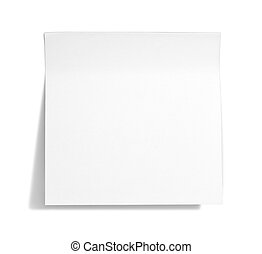 White sticky note with shade