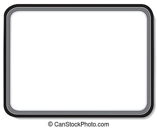 Blank whiteboard with black border. Copy space to add text, notes or drawings for home, school, office, business and do it yourself projects. EPS8 compatible.