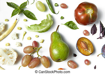 fruits and vegetables organic for healthy