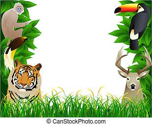 Cute wild animal illustration