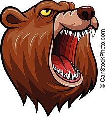 wild bear head mascot