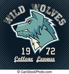 Wild wolves sports mascot