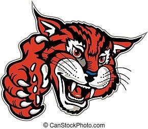 wildcat mascot with paw