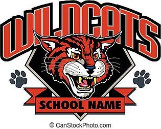 wildcats mascot design