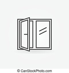 Window linear icon
