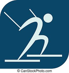 Cross-country skiing icon