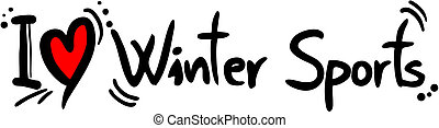 Winter sport love