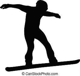 winter sport snowboarding