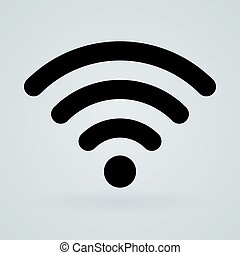 Wireless technology symbol icon