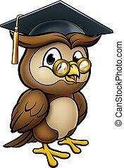 Wise Owl Graduate Teacher Character