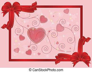valentine card or background