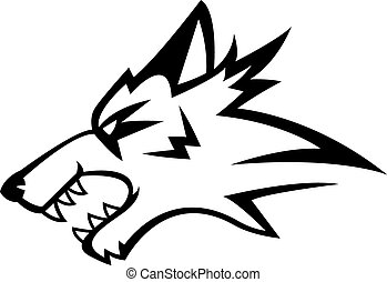 Wolf angry illustration design