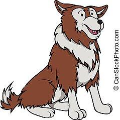 Wolf cartoon illustration design