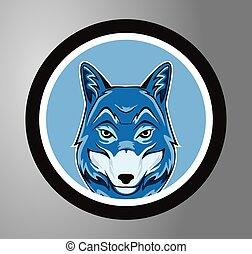Wolf Circle sticker