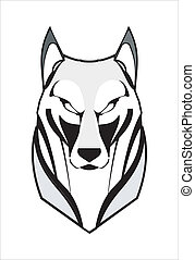 head of the one of canine beast. EPS and Hi Res JPG . suitable for team identity, sport club logo or mascot, insignia, embellishment, emblem, illustration for apparel, etc.