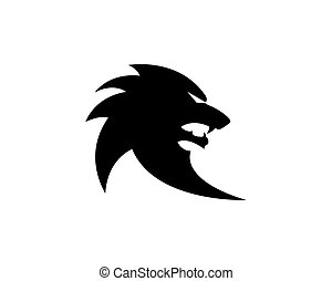 Wolf logo icon illustration design