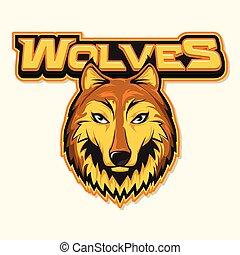 wolf logo illustration design