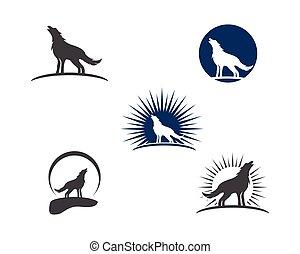 Wolf vector illustration design