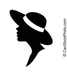 Woman in a hat- vector