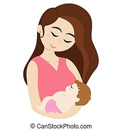Woman with a baby