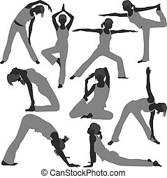 Woman Yoga Exercise Poses Healthy