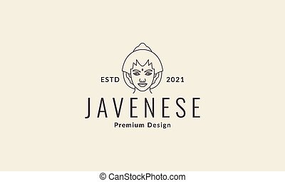 women javanese logo vector symbol icon design illustration