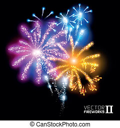 Wonderful Vector Fireworks