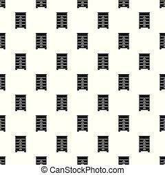 Wood bee house pattern seamless vector
