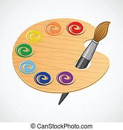 Wooden art palette.