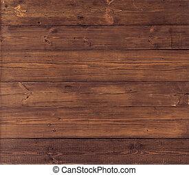 Wooden background. Brown grunge wood board texture