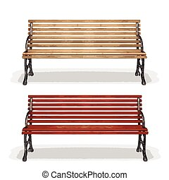 wooden bench made in vector