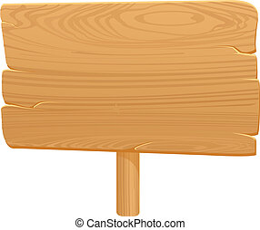 Wooden Board Icon On White Background2