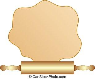 Wooden Rolling Pin. Baking Ingredient vector eps 10