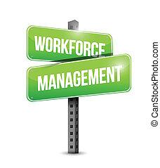 workforce management signpost illustration design over a white background