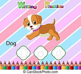 Worksheet Writing practice alphabet D for Dog