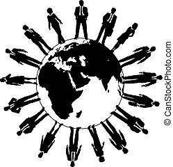 World business people workforce team