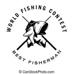 world fishing contest badge
