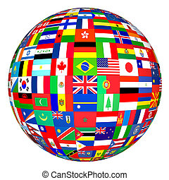 Globe flags of the world.