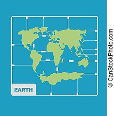 World Map plastic model kit. geography Continents of planet earth