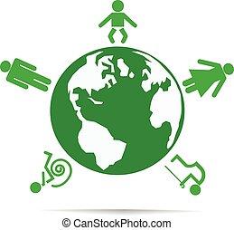 World of people. Vector illustration