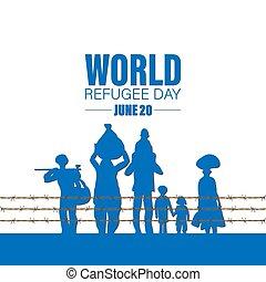 World Refugee Day. Concept of social event. 20 June-vector. International immigration concept background.