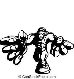 Wrestler Cartoon Vector Image