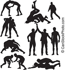 freestyle wrestling and greco-roman wrestling - competitive contact sport