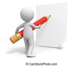 Write, Pencil, paper, A person in writing with pencil on the paper