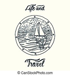 yacht travel sign
